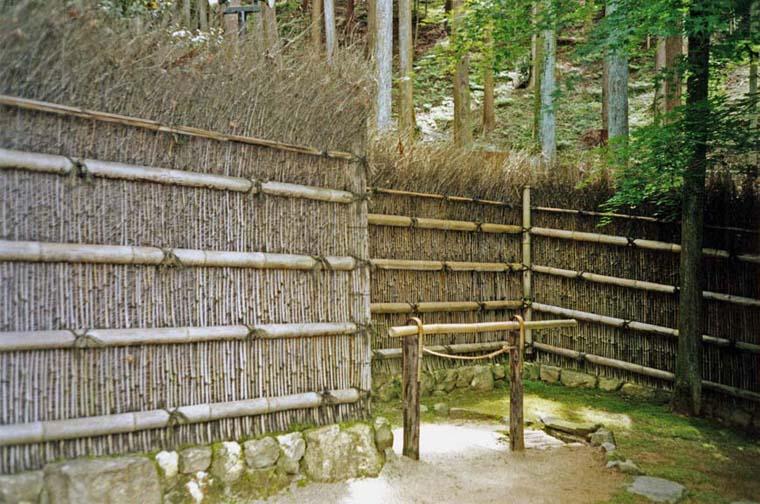 KYOTO: Traditional bamboo fence. May 26, 1998
