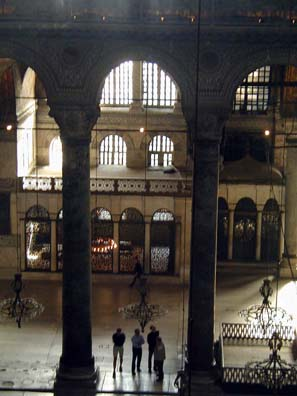 HAGIA SOPHIA: ews from the gallery above give a clearer idea of the vast size of the space enclosed.