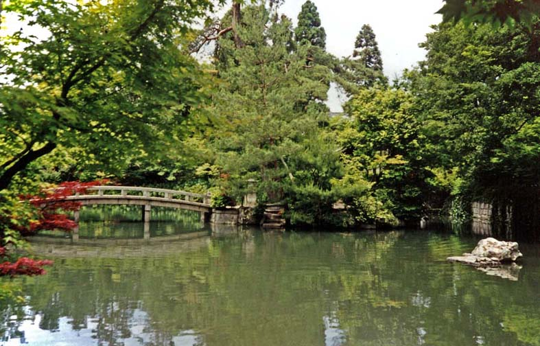 KYOTO: The Zenrin-ji Temple has lovely gardens, but it was not as tranquil as it looked because there was a kindergarten next door. It sounded uncannily like the city pool in summer. May 26, 1998