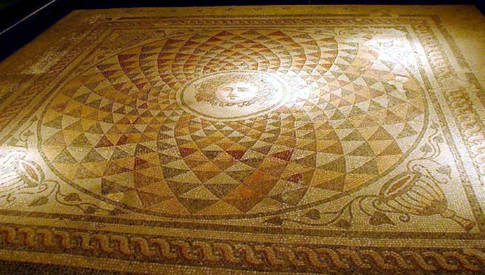 BERGMA MUSEUM: This mosaic floor is astonishingly intact.