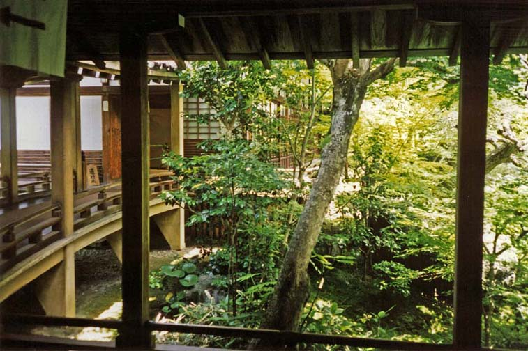 KYOTO: This is the head temple of the Jodo shu (Pure Land Buddhist) cult. Like many such monasteries and temples, its walkways continuously point the visitor toward nature in the form of beautiful gardens threaded through by walkways. May 26, 1998