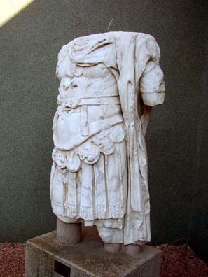 BERGMA MUSEUM: The original torso of the statue of the Emperor Trajan from his temple on the Acropolis.