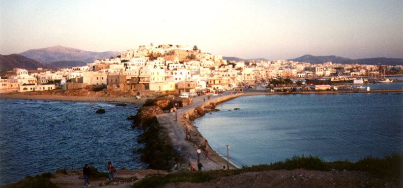 NAXOS: Hora viewed from Apollo' s Temple.