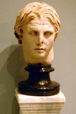 BERGMA MUSEUM: A portrait bust of Alexander the Great