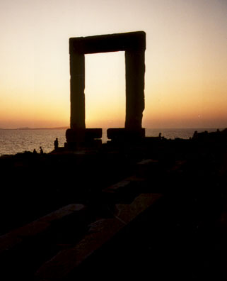 NAXOS: The ruins at sunset.