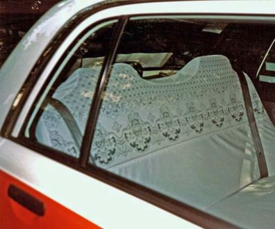 KYOTO: Cleanliness-conscious Japanese customers get fancy seat covers in taxis; the drivers wear white gloves. May 26, 1998