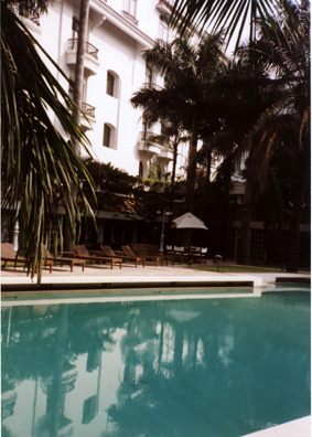 Swimming pool at Calcutta's most luxurious hotel.