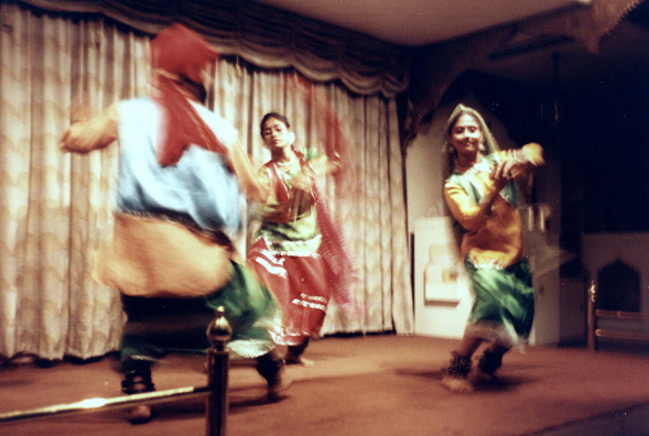 A tourist-oriented sampling of folk dances at the Oberoi Grand Hotel.