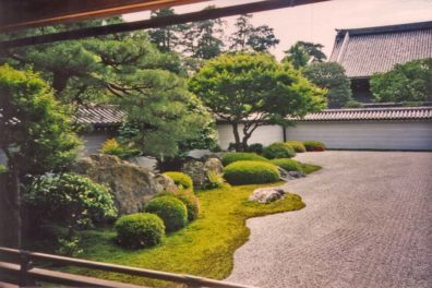 """KYOTO: The """"leaping tiger"""" garden, named after the paintings in nearby chambers."""