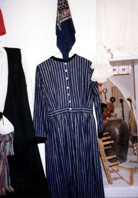 NAXOS: Traditional costumes in the Apirathos folk museum.