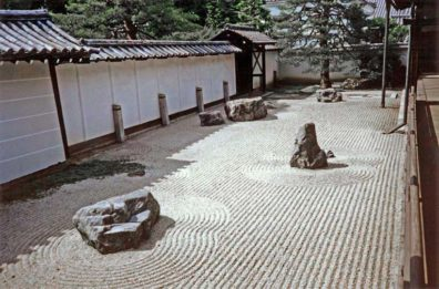 KYOTO: Another stone garden on the grounds. May 26, 1998