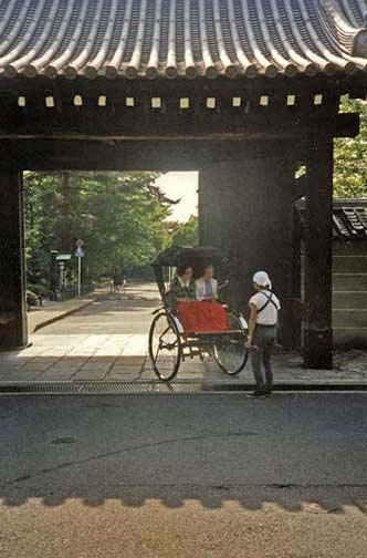 KYOTO: We saw rickshaws like this in Nara too, including one being vigorously pulled by a young woman.