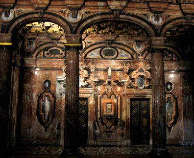 SEVILLA: Elaborate inlaid Renaissance stonework.