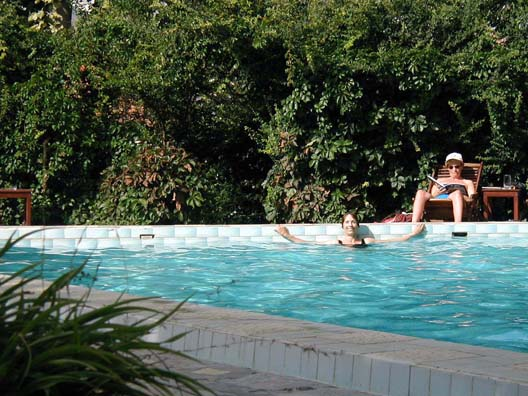 SELÇUK: We chose the Kale Han partly for its swimming pool, which Paula enjoyed thoroughly.