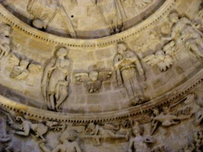 SEVILLA: A closer look the the dome depicting the Last Judgement.
