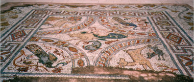 NAXOS: The fine museum displayed this mosaic out of doors.