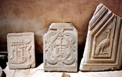 NAXOS: Byzantine-era fragments in the museum.