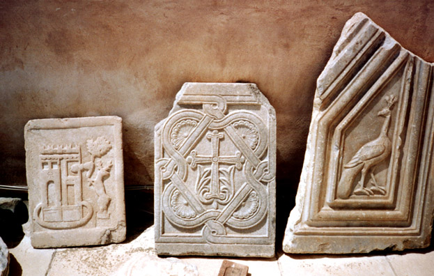 NAXOS: Byzantine-era fragments in the museum.