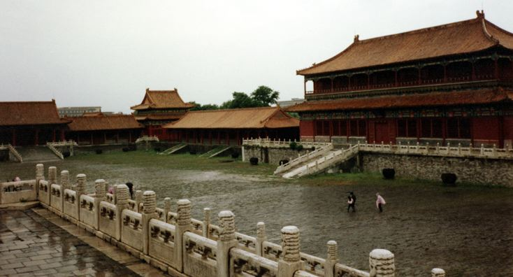 BEIJING: A more recognizable shot of the building from the courtyard.