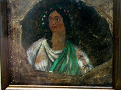SEVILLA: A rare painted portrait of a woman. Archaeological Museum, Seville