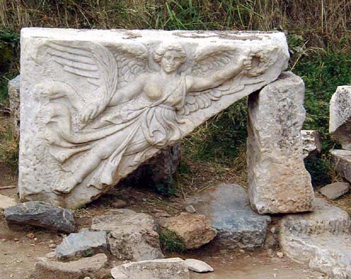 EPHESUS: Winged victory from Gate of Hercules.