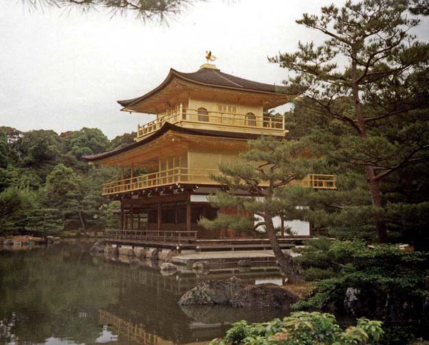 KYOTO: The Golden Pavilion built in 1397 May 16, 1998