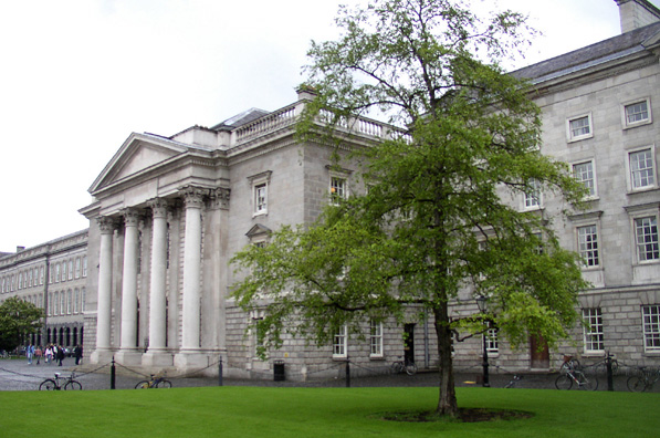 "DUBLIN, TRINITY COLLEGE: The Georgian Exam Hall, where examinations are still given. Many tourists head straight for the old library building, where the Book of Kells, the most famous of illuminated Medieval manuscripts, is displayed. Visitors interested in books should also head upstairs to view the amazing collection of rare books in the stunning ""Long Room."" Photography is not allowed inside the library, but there are lots of postcards and other memorabilia for sale."
