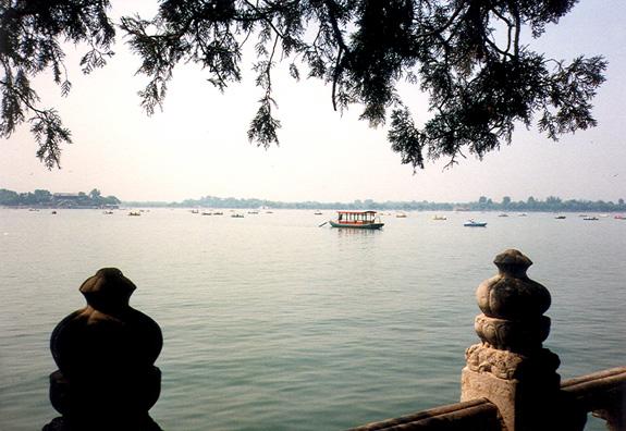 SUMMER PALACE: A lake on the palace grounds.