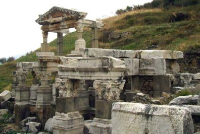 EPHESUS: The Fountain of Trajan. Waterworks play a very prominent role on this site.