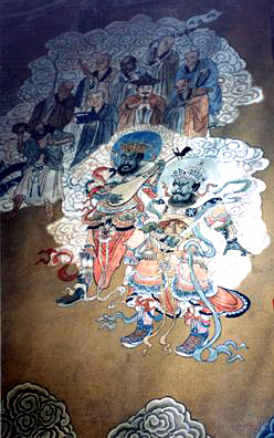 SUMMER PALACE: Demon musicians in the temple.