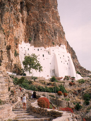 AMORGOS: the Monastery of Panagia Hozoviotissa now only contains five monks.