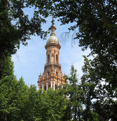 SEVILLA: The Plaza de España was built as the centerpiece of the 1929 Ibero-American Exposition, and now houses various government offices.
