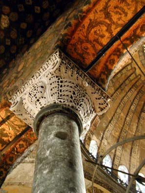 HAGIA SOPHIA: Column in the upper gallery.