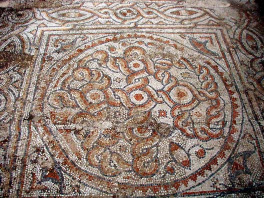 EPHESUS: This mosaic is lying out in the open on the site.