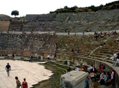 EPHESUS: View of part of the seating area.