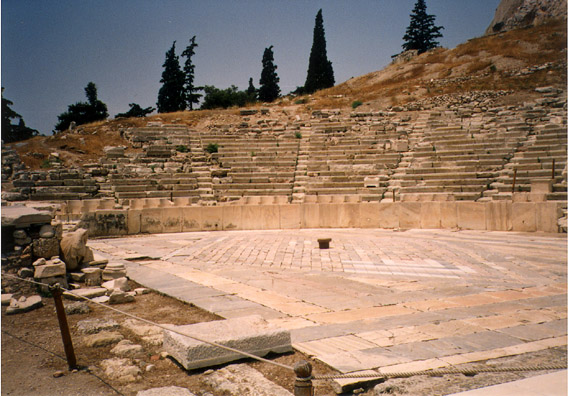 ATHENS: The altar is the center of the dance floor.