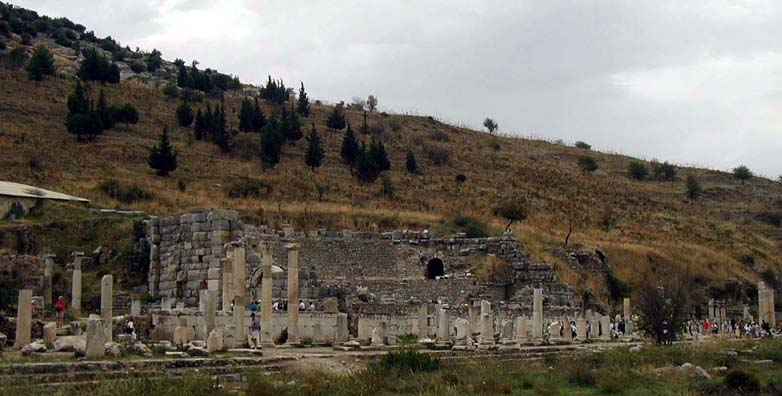 EPHESUS: The smaller odeum was used for musical and poetic performances, and originally had a roof.
