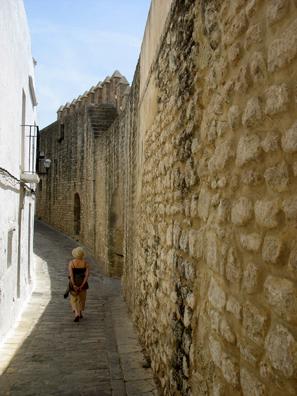 VEJER DE LA FRONTERA: Part of the old city walls.