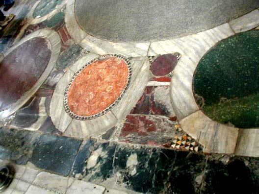 HAGIA SOPHIA: Detail of the inlaid stone flooring