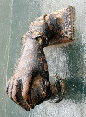 VEJER DE LA FRONTERA: This design of a typical door knocker is common all over southern Europe.