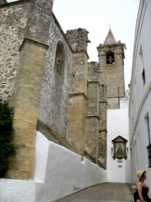 VEJER DE LA FRONTERA: The church of Nuestra Señora de la Oliva (Our Lady of the Olives).