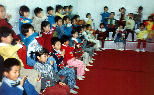 BEIJING: Music class singing a song with accompanying hand motions.