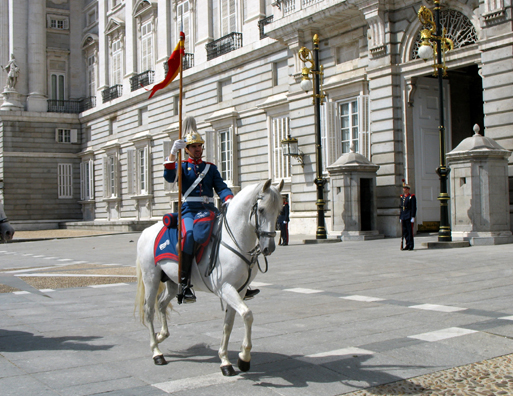 MADRID: The mounted guards at the royal palace execute an elaborate ritual at the end of each shift.