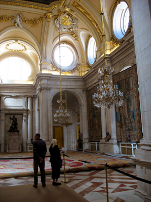 MADRID: The interior is a riot of rococo decoration.