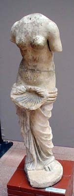SELÇUK MUSEUM: And one with a strategically positioned shell, one of her principal symbols.