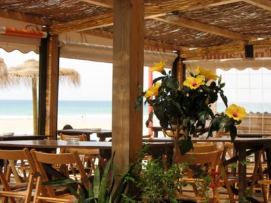CONIL: The beach in front of the town, Playa de los Bateles, has a few cafes along its edge.