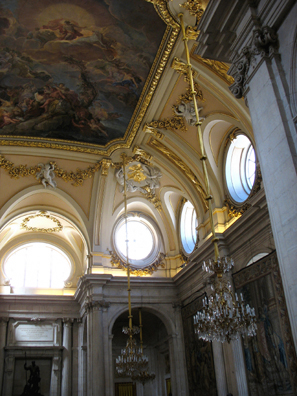 MADRID: The ceiling fresco depicting the triumph of Spain, by Tiepolo.