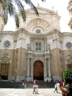 CADIZ: The Baroque 18th-century Cádiz cathedral.