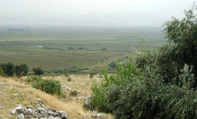 """PRIENE: This is the River Meander (Buyuk Menderes), which silted up that plain. Its winding path made it the source of the common word """"meander."""""""