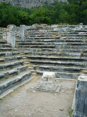 PRIENE: Every Greek city had a bouleuterion, a council chamber for debate and decision-making.